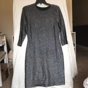 Grey shimmer dress